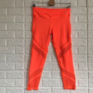 Trina Turk recreation neon mesh leggings
